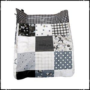 Postvanger patchwork zwart / ruit zwart