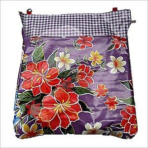 Postvanger paars met bloemen  / ruit paars